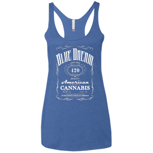 BLUE DREAM - Ladies' Triblend Racerback Tank - Herban Apparel