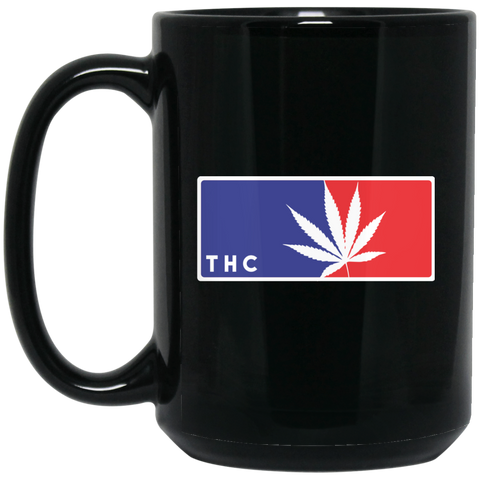 Cannaleague  - 15 oz. Black Mug - Herban Apparel