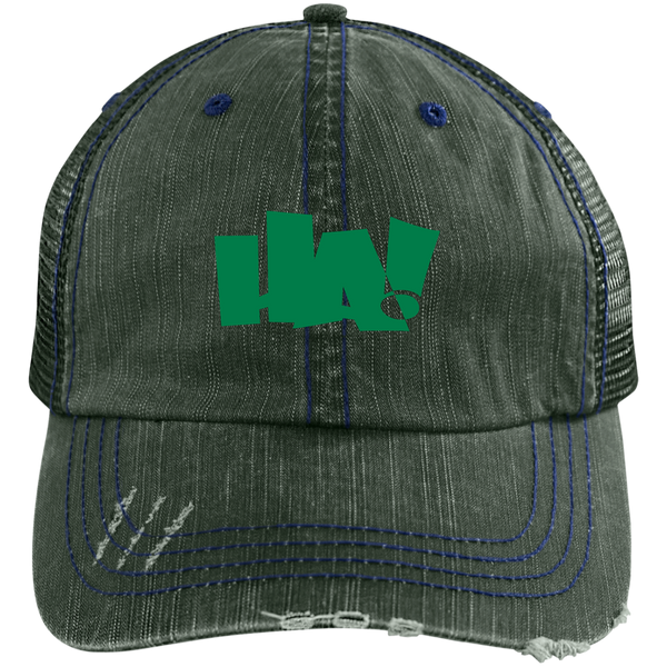 6990 Distressed Unstructured Trucker Cap - Herban Apparel