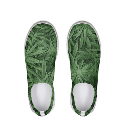 leaf-flower vector look Slip On Flyknit Shoe - Herban Apparel