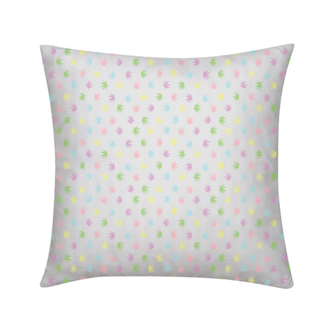 "Pastel Leaves Throw Pillow 18""x18"" - Herban Apparel"