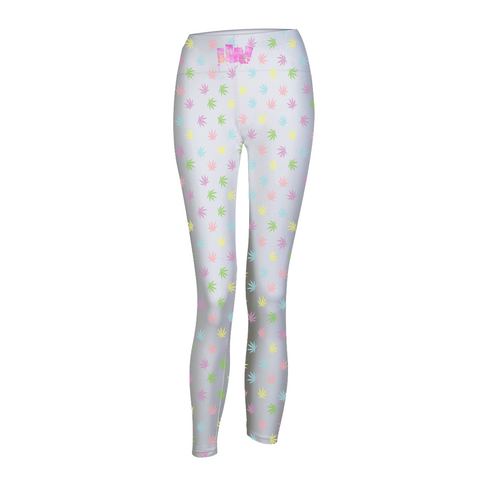 Pastel Leaves Women's Yoga Pant - Herban Apparel
