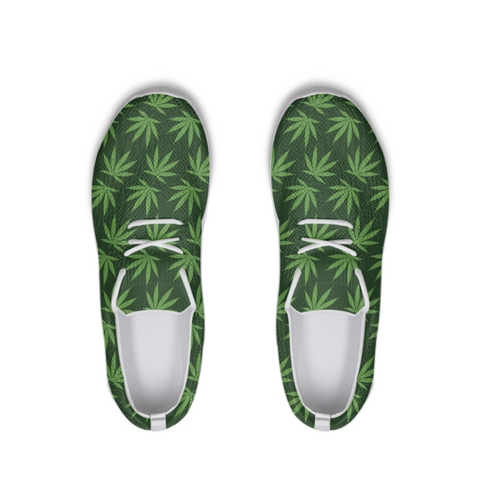 Leafy - LACE UP FLYKNIT shoe - Herban Apparel
