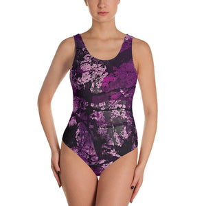 Pink Abstract - One-Piece Swimsuit - Herban Apparel