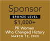 "Sponsorship, Bronze: ""PR Women Who Changed History 2020"" event"
