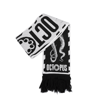 Soccer Scarf - Black/White