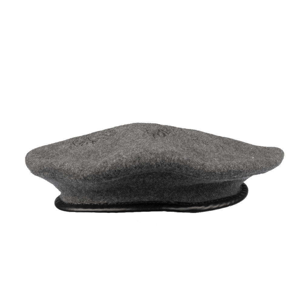 Telephone Beret - Grey
