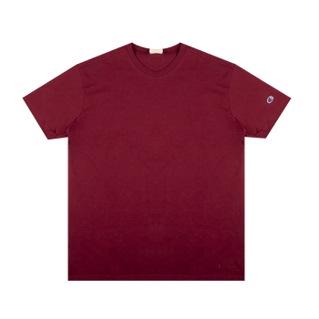 Reverse Weave Oversized Tee - Red