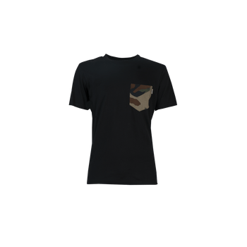 Lester Pocket T-Shirt - Black/Camo