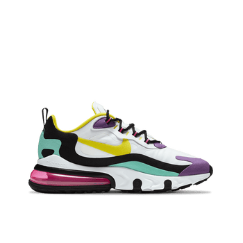 Air Max 270 React - White/Dynamic Yellow Black
