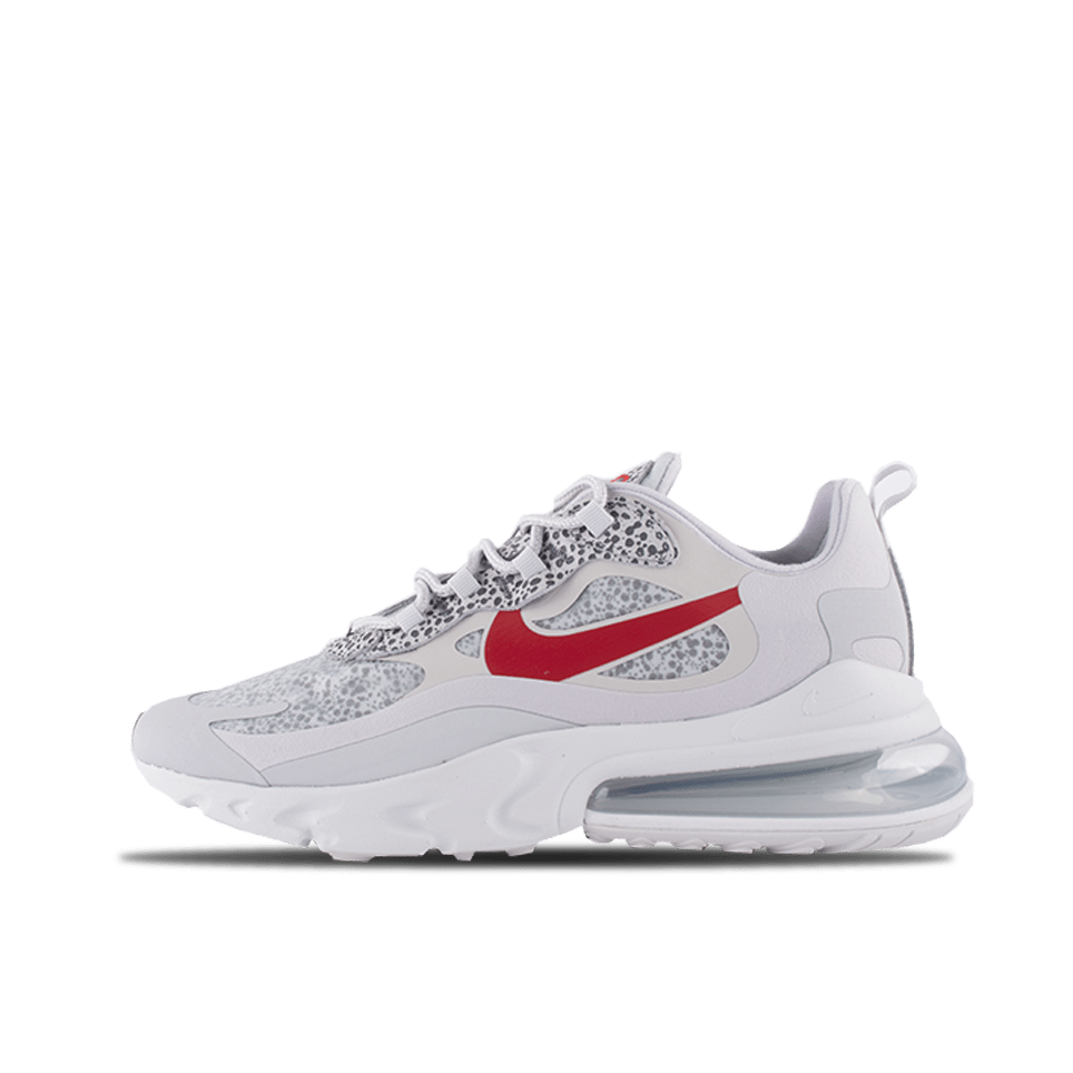 Air Max 270 React - Neutral Grey/University Red