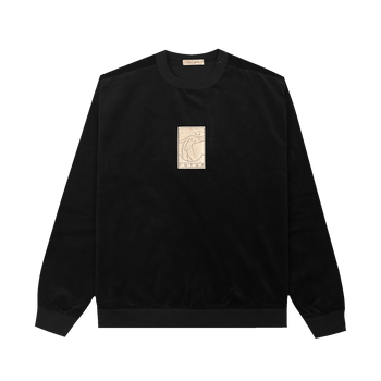 01 Gold Cord G Fit Crew - Black