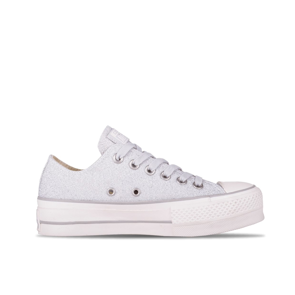 Chuck Taylor All Star Clean Lift OX - Silver/White