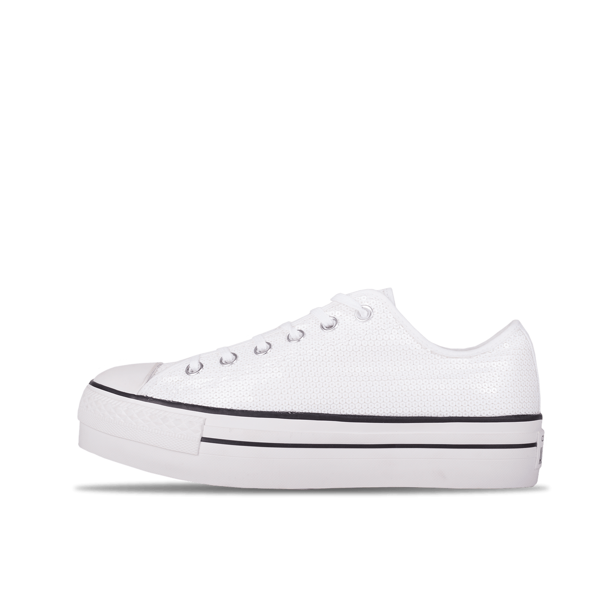 Chuck Taylor All Star Platform OX - White/Paillette