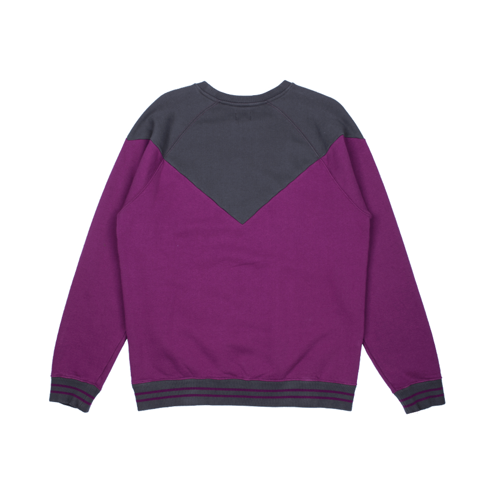 Sports Crew Sweat - Dark Purple/Ebony