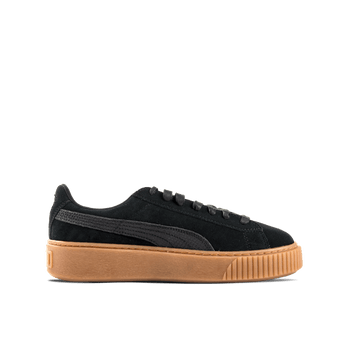 Suede Platform Animal - Black