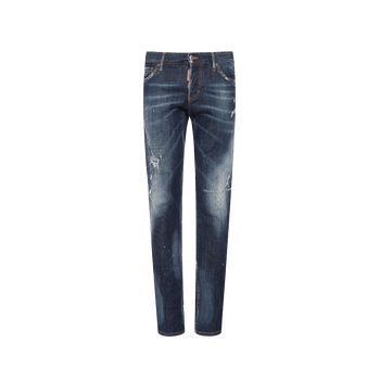 Slim Paint Jeans - Blue
