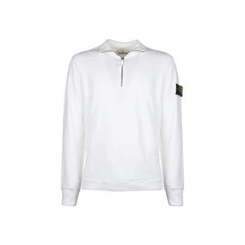 Short Zip Sweatshirt - White