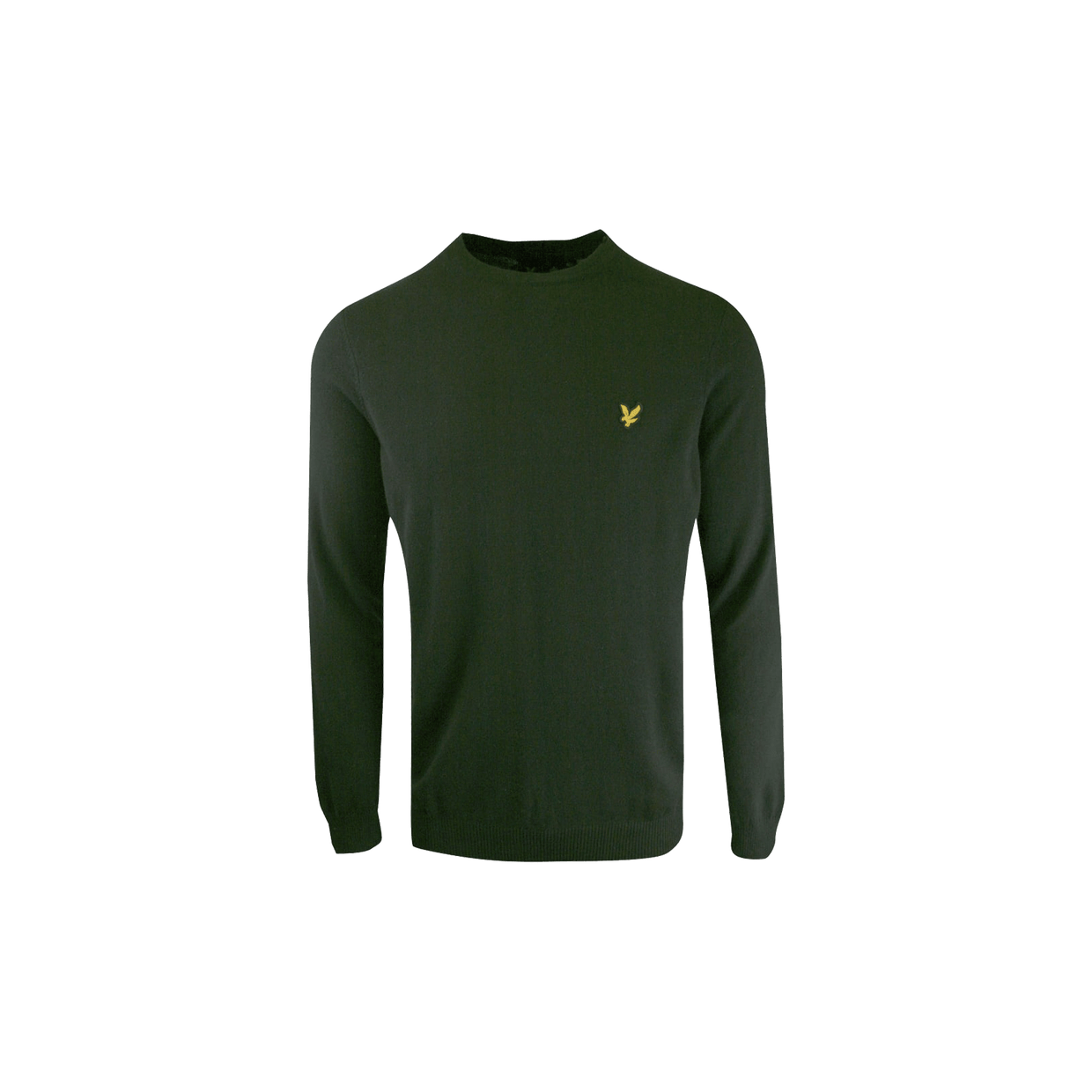Crewneck Cotton Merino - Green Marl