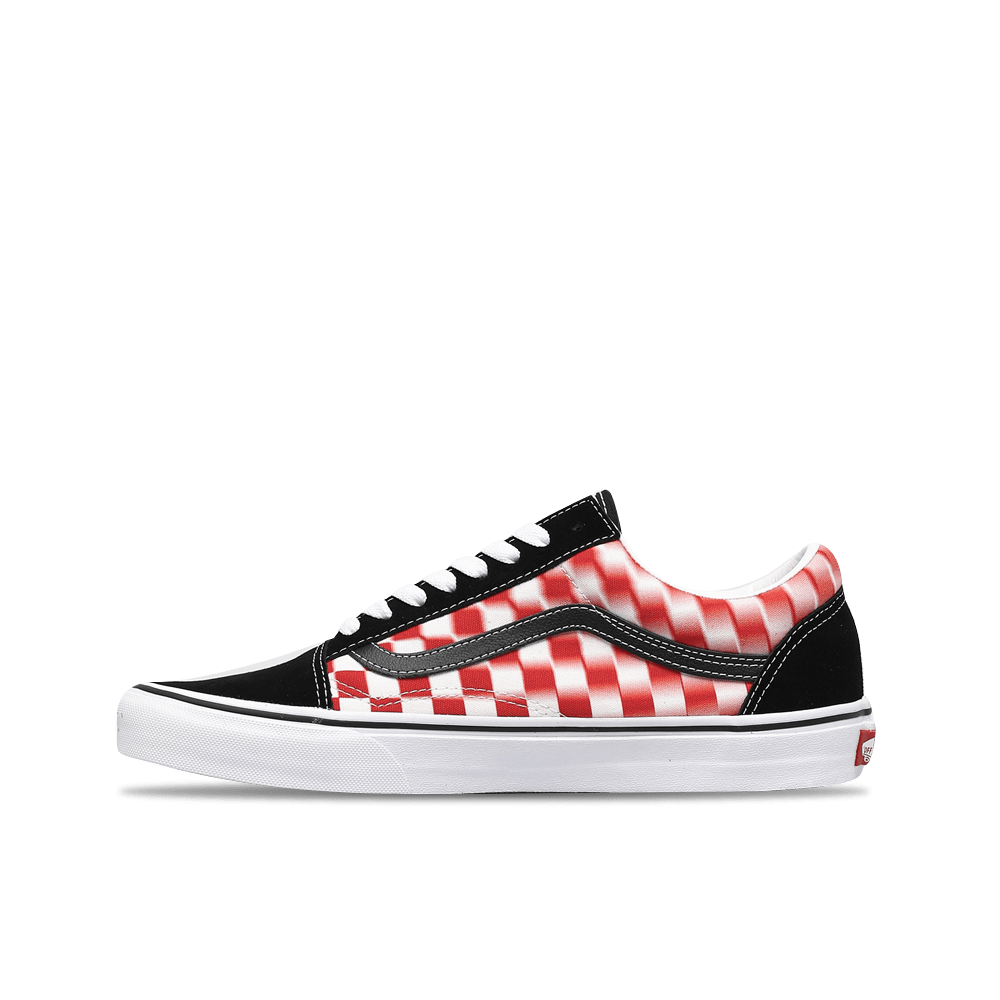 Old Skool Blur Check - True White/Red