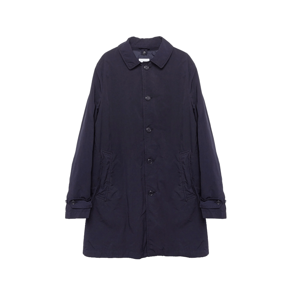 Classic Cotton Trench - Navy Blu