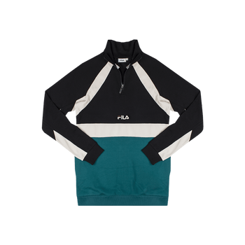 Oligert Half Zip Shirt - Black/Teal
