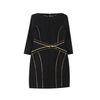 Zipped Dress - Black/Gold