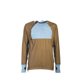 Advanced Apparel Exploration 1.0 1/2 Zip - Grey/Brown