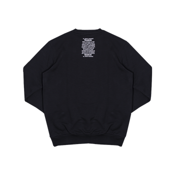 Fleece Crew - Black/White
