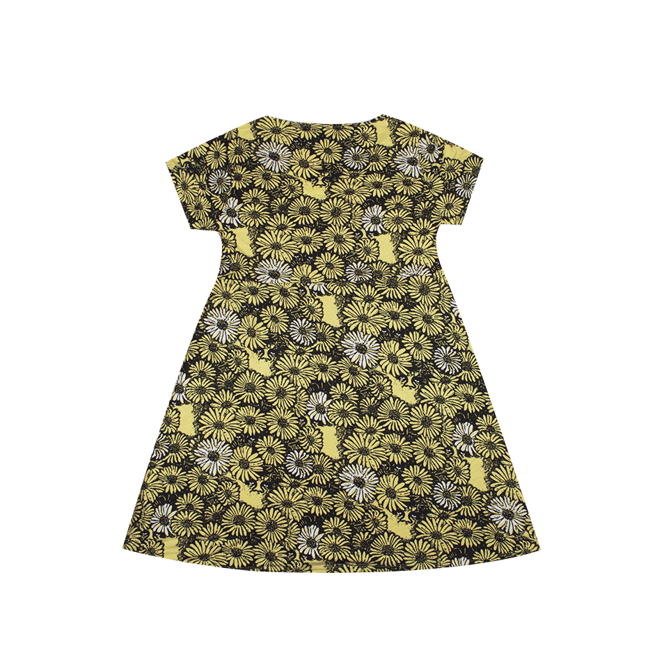 Pedal Dress - Black/Yellow