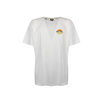 Sunset Pig Dyed Tee - White/Yellow