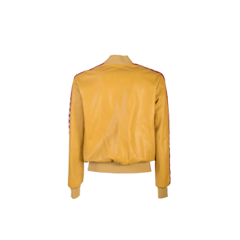 Eduart Leather Jacket- Yellow