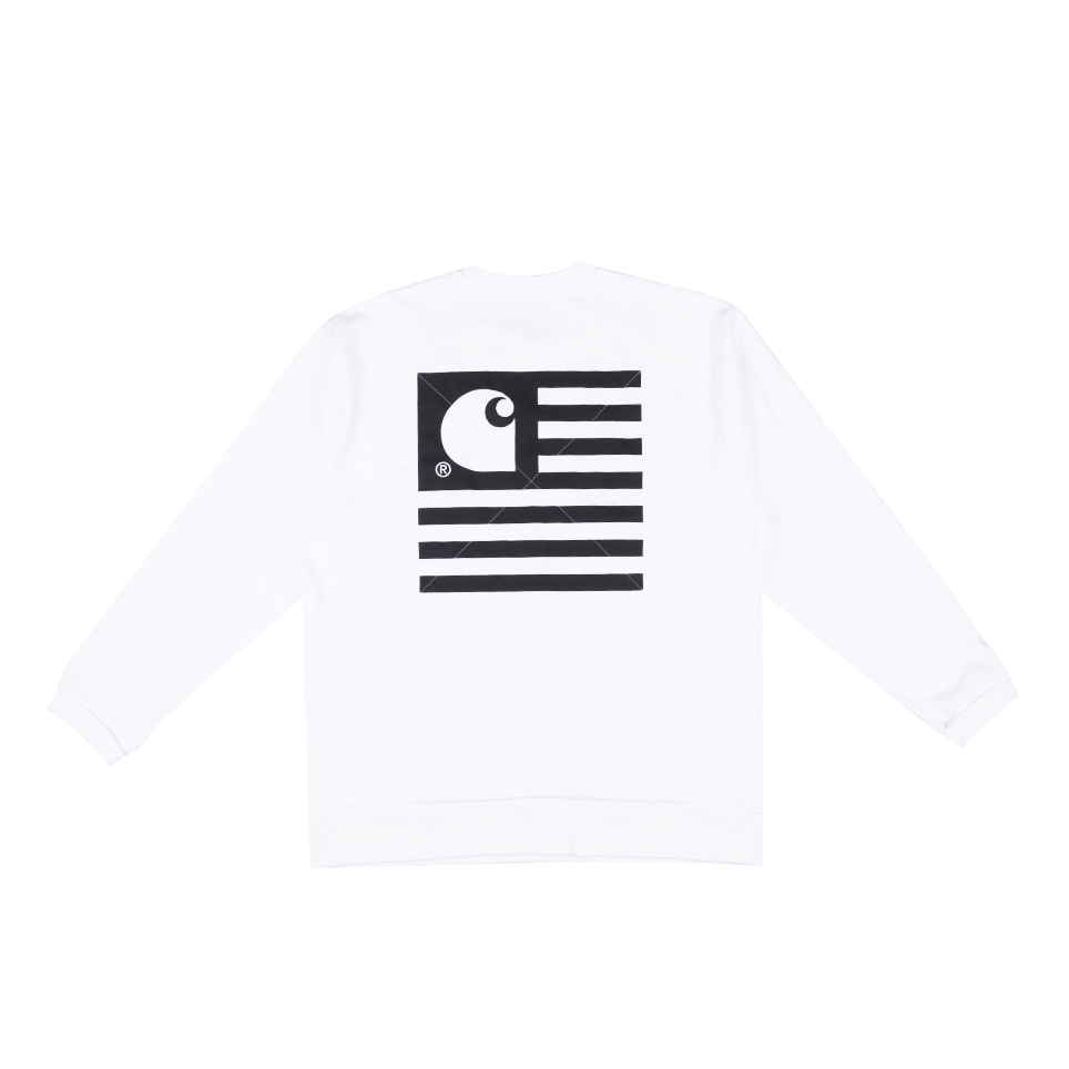 State Patch Sweat - White