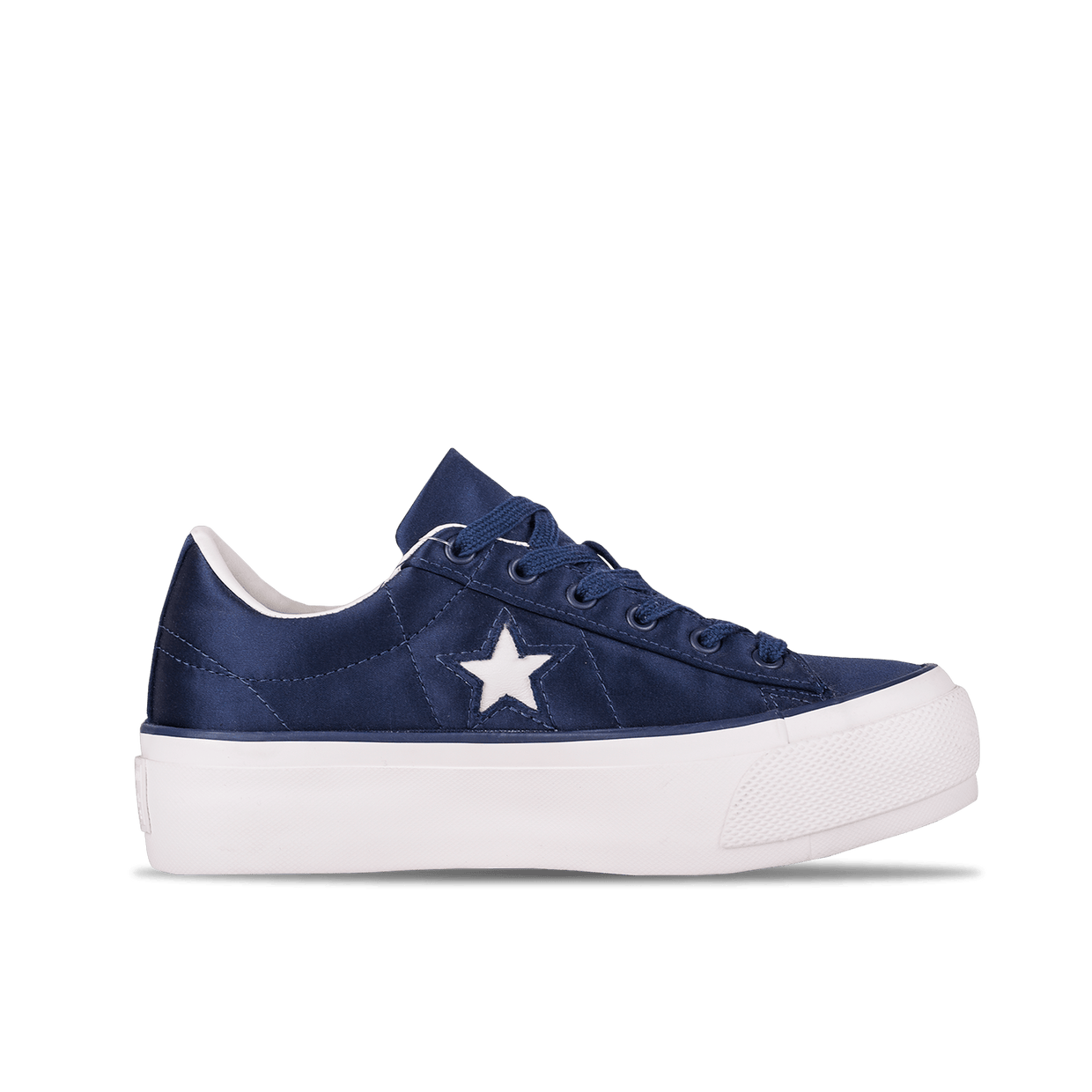 One Star Platform OX - Dress Blues/White
