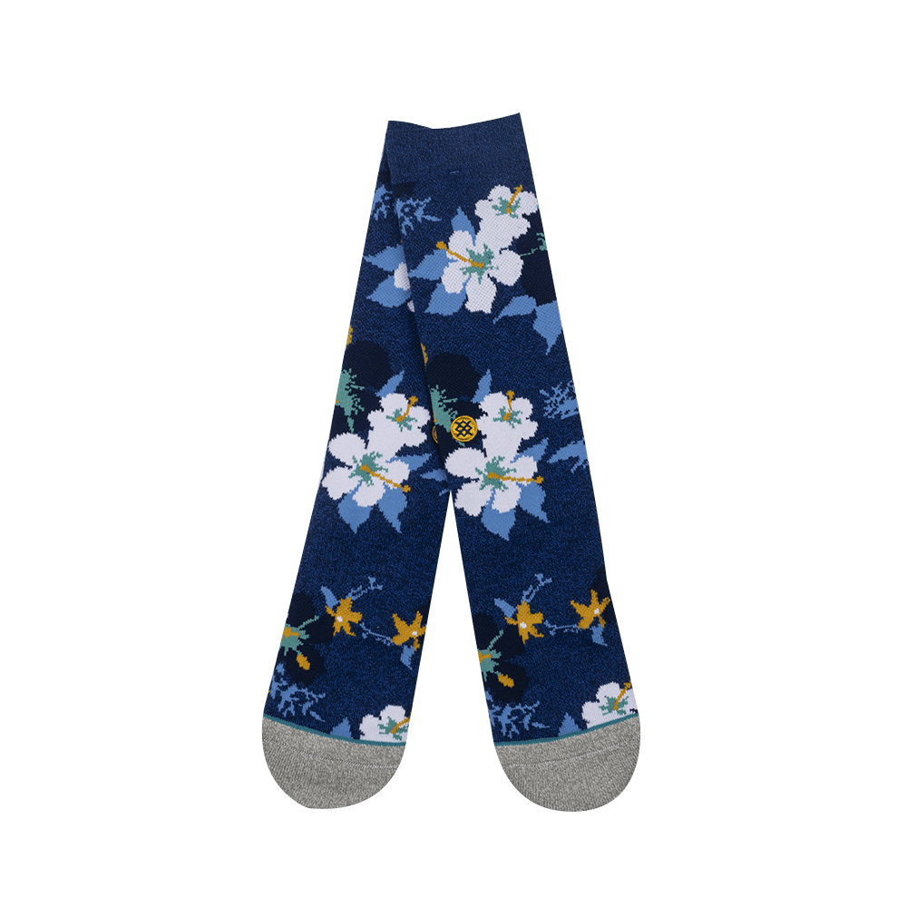 Flower Socks - Blue/Multicolor
