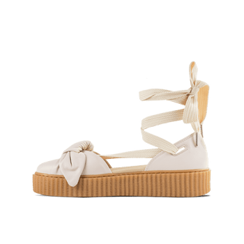 Bow Creeper Sandal - White