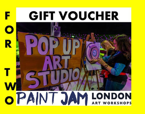 GIFT  VOUCHER FOR 2 - PAINT JAM LONDON