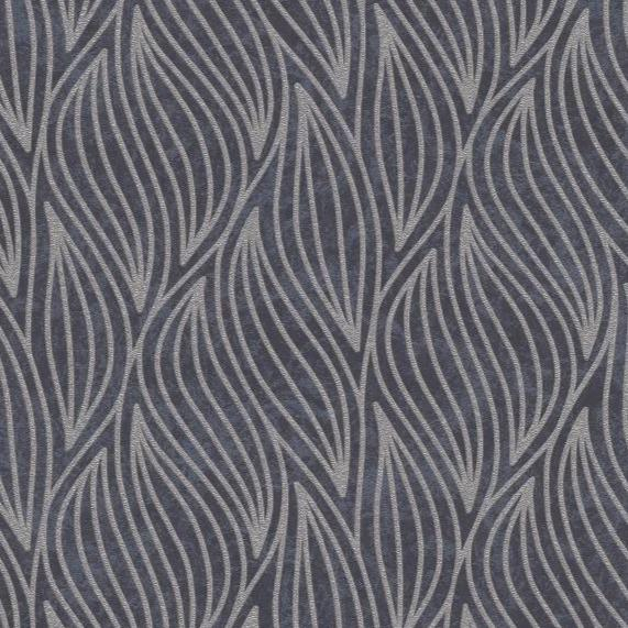 Carat Black / Champagne Art Deco Leaf Wallpaper