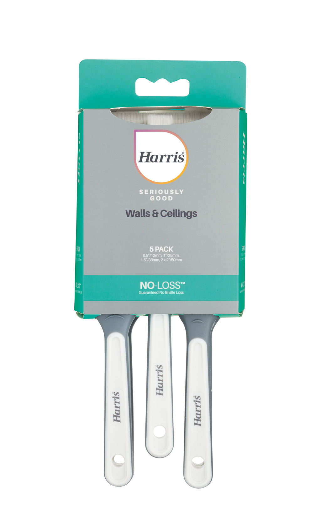 5 Pack Harris Seriously Good Walls & Ceilings Brush Set