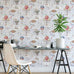 Hot air balloons circus themed wallpaper in room