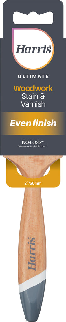 "2"" / 50mm Harris Ultimate Woodwork Stain & Varnish Brush"