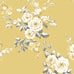 Catherine Lansfield yellow ochre flower print wallpaper