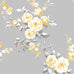 Catherine Lansfield grey and yellow flower wallpaper