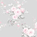 Catherine Lansfield grey and pink flower print wallpaper