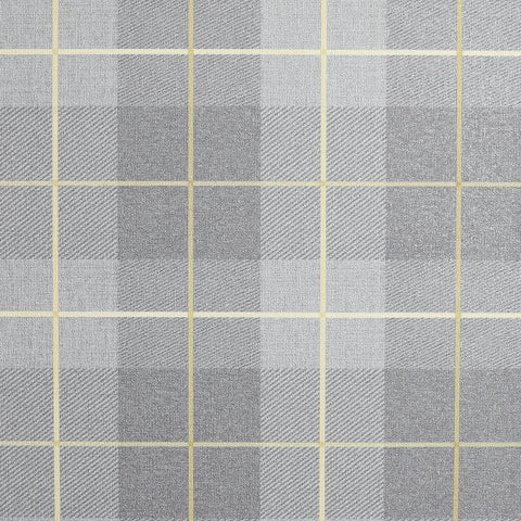 Country Heritage Tartan Ochre and Grey Wallpaper