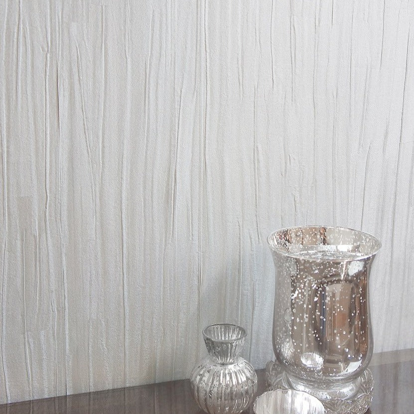 Opus silver folded fabric texture wallpaper