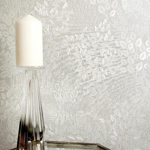 Majella Cream Woodland Wallpaper