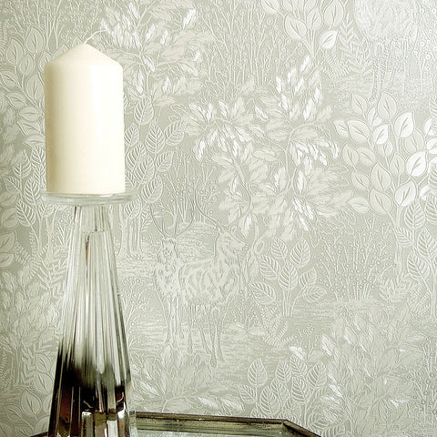 Majella Sage Woodland Wallpaper