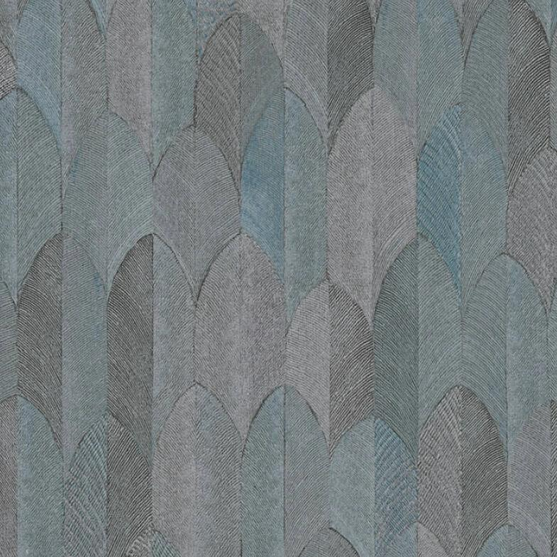 Sumatra Blue and Grey Feather Wallpaper