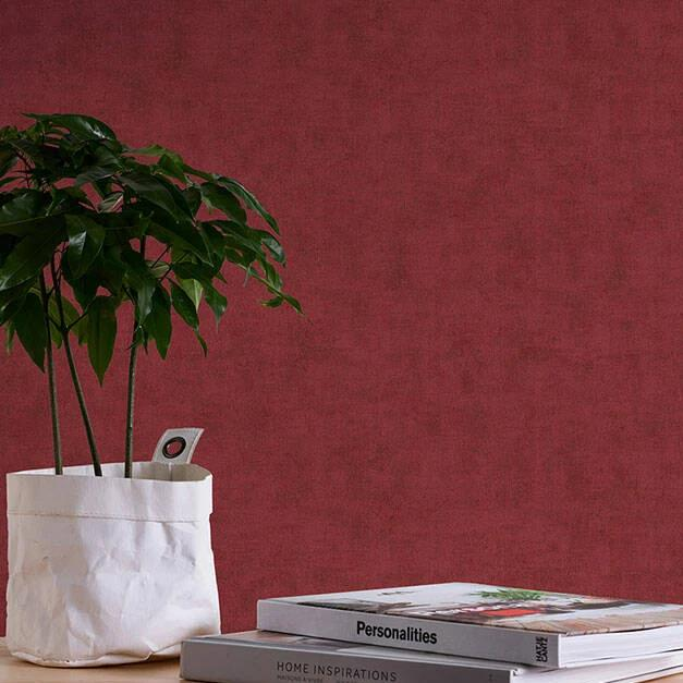 Neue Bude 2.0 Red Plain Wallpaper
